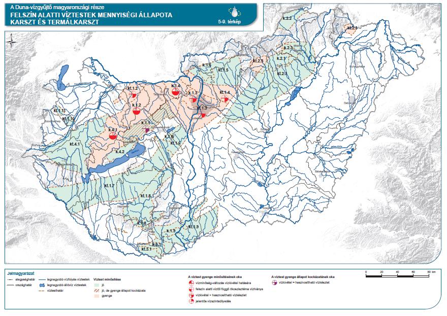 Felszín alatti víztestek (karszt és termál karszt) mennyiségi állapota