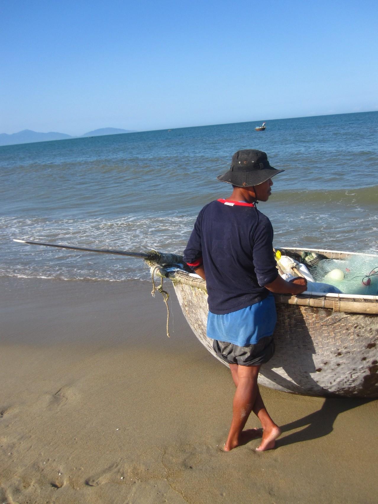 Hoi An, Cua Dai part, halászcsónak