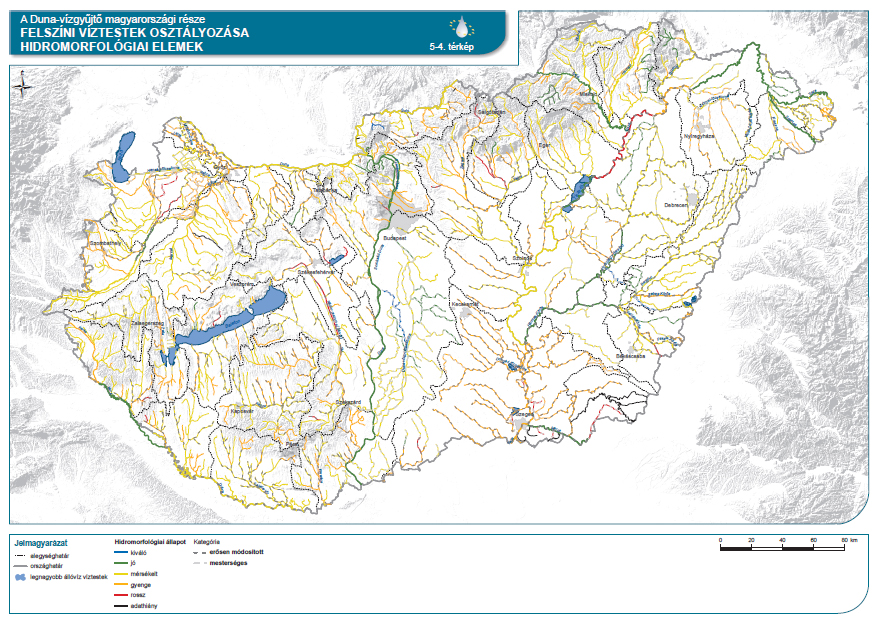 Felszíni víztestek osztályozása hidromorfológiai elemek szerint