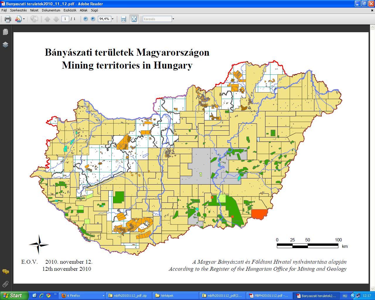 Banyaszati területek Magyarországon