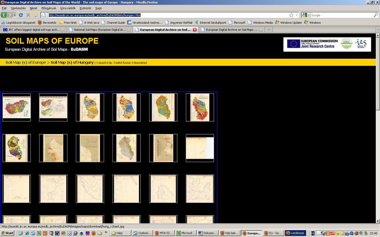 Magyarország talajtérképei az EU archívumban