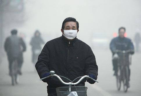 Szennyezett levegőjű területeken élők