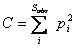 Simpson-Yule index (D)