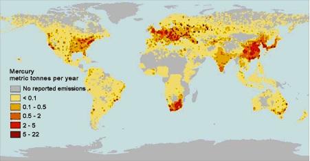 Higanyszennyezés a Földön