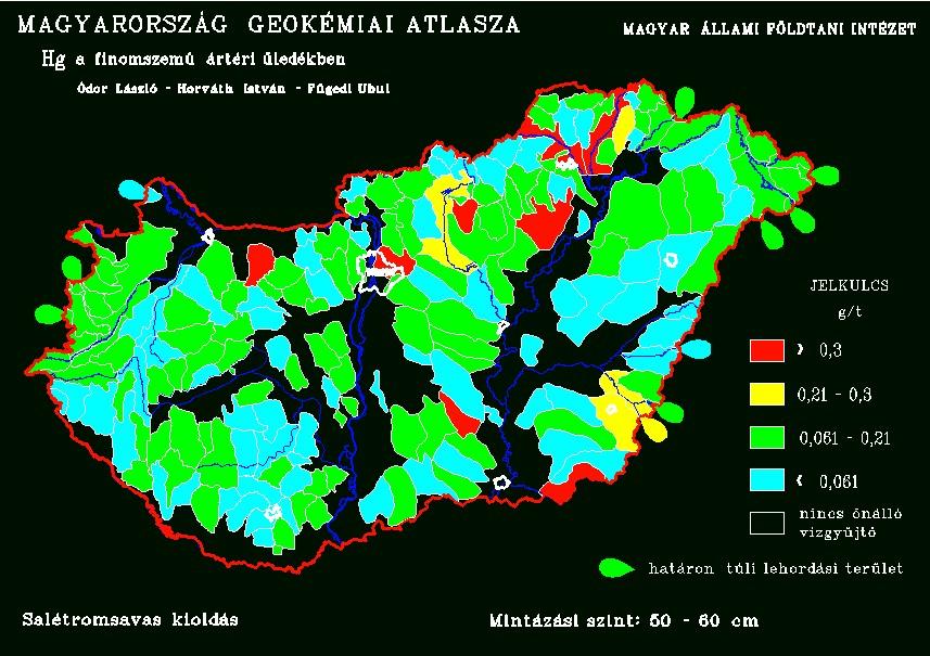 Természetes higanykoncentráció Magyarország talajaiban