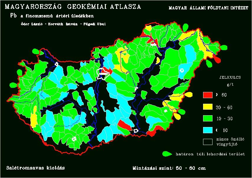 Természetes ólomkoncentráció Magyarország talajiban