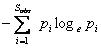 Shannon-Wiener index (H)