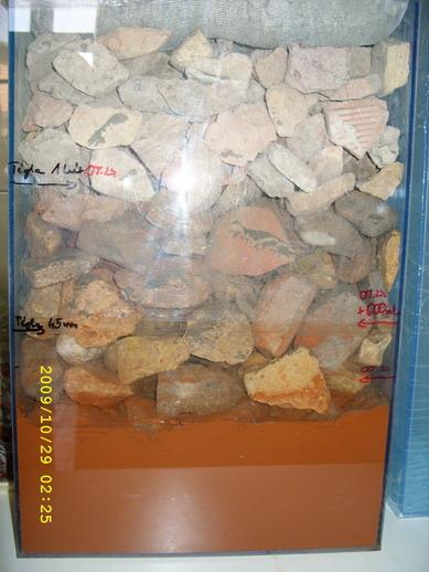 Téglából készült kapilláris gát vízfelszívása